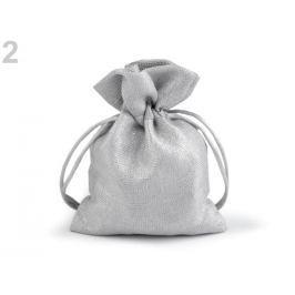 Darčekové vrecúško s lurexom 10x13 cm strieborná 10ks Stoklasa
