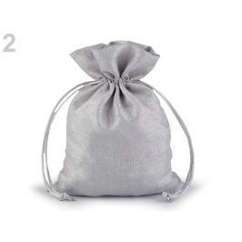 Darčekové vrecúško s lurexom 13x18 cm strieborná 1ks Stoklasa