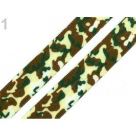 Lemovacia guma maskáčová šírka 20 mm zelená khaki 25m Stoklasa