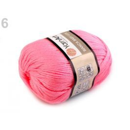 Priadza pletacia 50 g Bianca baby lux pink 1ks