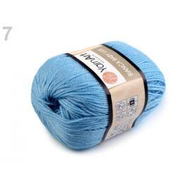 Priadza pletacia 50 g Bianca baby lux modrá azuro 1ks