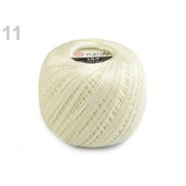 Bavlnená priadza 50 g Lily krémová sv. 1ks