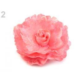 Brošňa / ozdoba ruža  Ø8 cm ružová str. 3ks Stoklasa