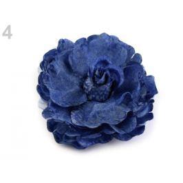 Brošňa / ozdoba ruža  Ø8 cm modrá safírová 3ks Stoklasa