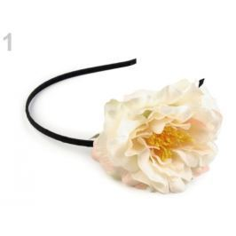 Čelenka do vlasov s kvetom krémová najsvetl 1ks Stoklasa