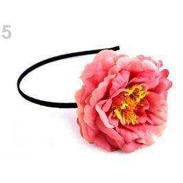Čelenka do vlasov s kvetom korálová sv. 3ks Stoklasa