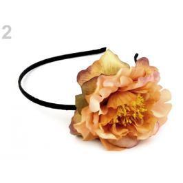 Čelenka do vlasov s kvetom broskyńová svetlá 4ks Stoklasa
