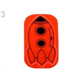 Reflexná samolepka raketa, lebka oranžová refexná 200ks Stoklasa
