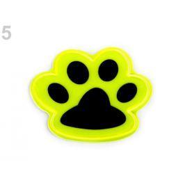 Reflexná samolepka mačka, lapka žltá reflexná 10ks Stoklasa