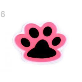 Reflexná samolepka mačka, lapka ružová 40ks Stoklasa