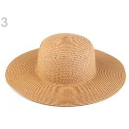 Dámsky klobúk k ozdobeniu hnedá prírodná 3ks Stoklasa