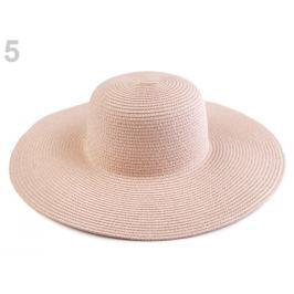 Dámsky klobúk k ozdobeniu pudrová 3ks Stoklasa