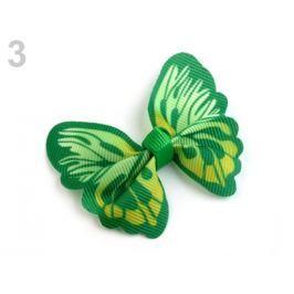 Textilná aplikácia 3D motýľ zelená pastelová 300ks Stoklasa