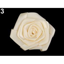 Saténová ruža Ø70 mm krémová najsvetl 10ks Stoklasa