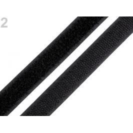 Suchý zips háčik + plyš  šírka 16 mm čierna 200m