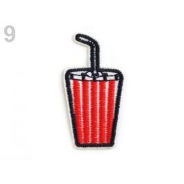Dizajn nažehlovačka vyšívaná červená 10ks Stoklasa
