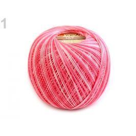 Bavlnená priadza Lily melange 50 g ružová 16ks