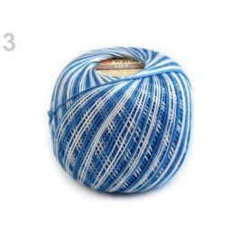 Bavlnená priadza Lily melange 50 g modrá sv. 16ks
