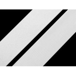 Suchý zips komplet šírka 38 mm biely biela 25m