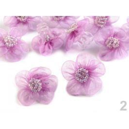 Štipec do vlasov s kvetom fialová lila 30ks
