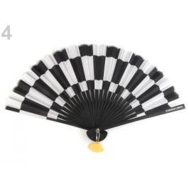 Vejár čiernobiely Languo 21 cm bieločierná 4ks Stoklasa