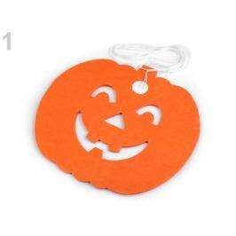 Halloweenská girlanda - tekvica, netopier oranžová dyňová 1ks Stoklasa