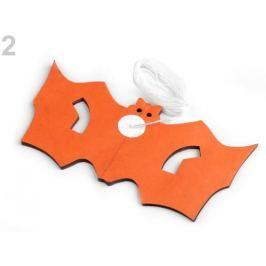 Halloweenská girlanda - tekvica, netopier oranžová dyňová 12ks Stoklasa