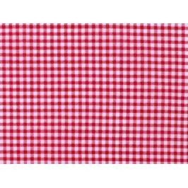 Látka PES károvaná červená  1m Stoklasa