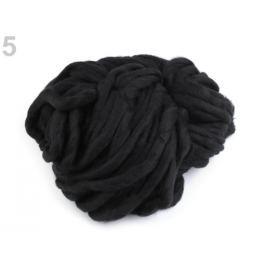 Extra hrubá priadza cca 240 g čierna 5ks Stoklasa