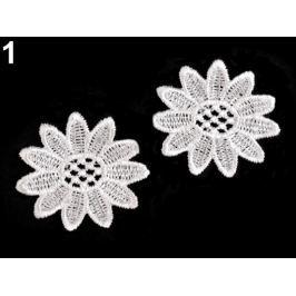 Čipkovaný kvet Ø50 mm biela 100ks Stoklasa
