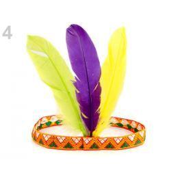 Karnevalová čelenka - indián fialková 12ks Stoklasa