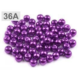Voskované perly Ø6 mm fialová purpura 5000g Stoklasa