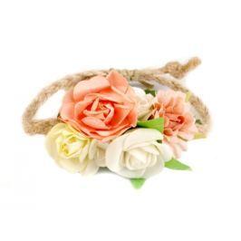 Náramok s kvetmi marhulová 12ks Stoklasa
