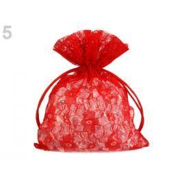 Darčekové vrecúško čipkované 12x18 cm červená 1ks Stoklasa