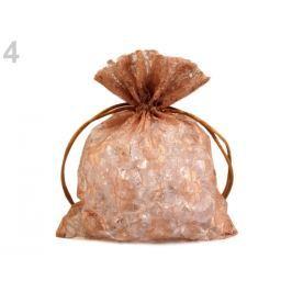 Darčekové vrecúško čipkované 12x18 cm hnedá sv. 10ks Stoklasa