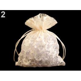 Darčekové vrecúško čipkované 12x18 cm krémová sv. 100ks Stoklasa