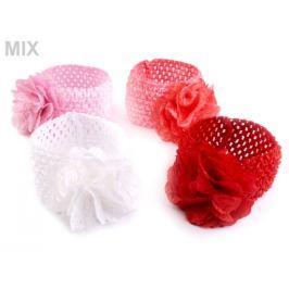 Detská elastická čelenka do vlasov s kvetom Stoklasa