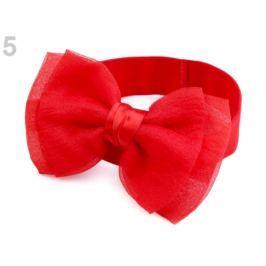 Detská elastická čelenka do vlasov s mašľou červená 36ks Stoklasa