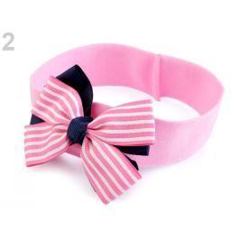Detská elastická čelenka do vlasov námornícka ružová str. 1ks Stoklasa