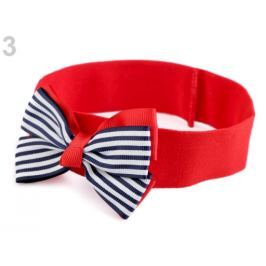 Detská elastická čelenka do vlasov námornícka červená  36ks Stoklasa