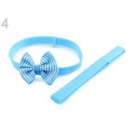 Detská elastická čelenka do vlasov, sada modrá azurová 36ks Stoklasa