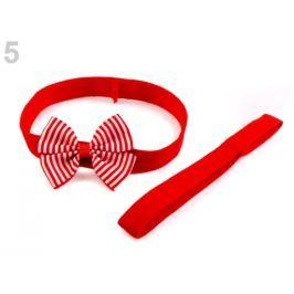 Detská elastická čelenka do vlasov, sada červená 36ks Stoklasa