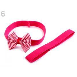 Detská elastická čelenka do vlasov, sada ružová ostrá 36ks Stoklasa
