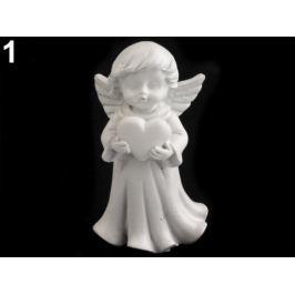 Dekorácia anjel biela 1ks Stoklasa