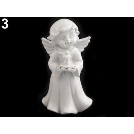 Dekorácia anjel biela 12ks Stoklasa