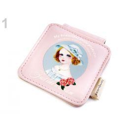 Kozmetické zrkadielko Languo ružová lastúrová 1ks Stoklasa