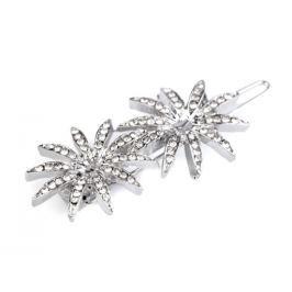 Štrasová sponka do vlasov kvety crystal 3ks Stoklasa