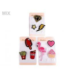 Textilná brošňa cupcake, srdce, plameniak Stoklasa