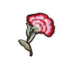 Brošňa / odznak kvet červená  12ks Stoklasa