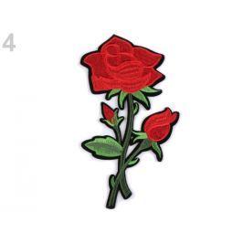 Nažehlovačka na rifle kvety červená 10ks Stoklasa